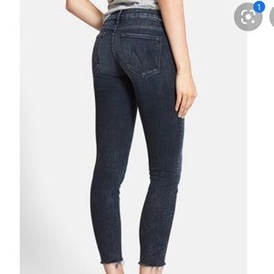 Mother denim the looker ankle fray